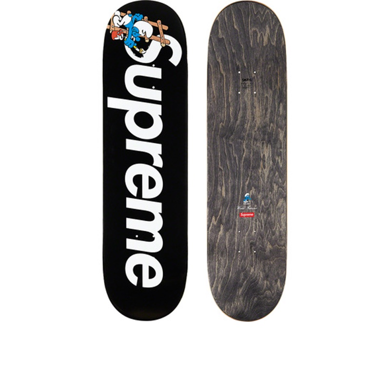 Supreme Smurfs Skateboard Black