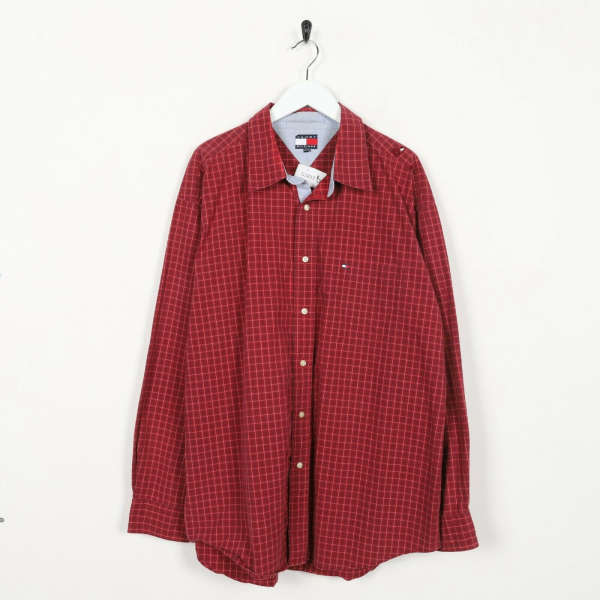 Vintage TOMMY HILFIGER Small Logo Long Sleeve Check Shirt | XL | Grade B