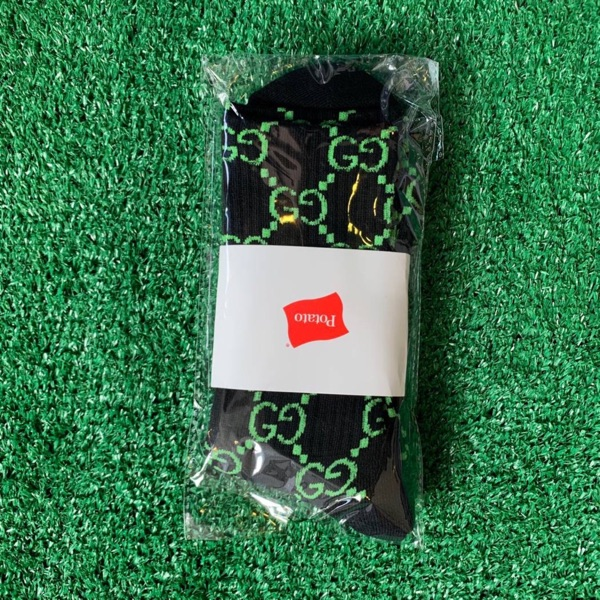 Imran Potato Gucci Socks Black Green