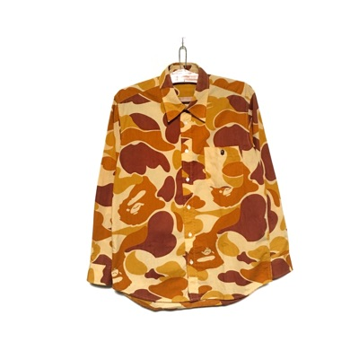 A Bathing Ape Camo Shirt Button Up Made In Japan