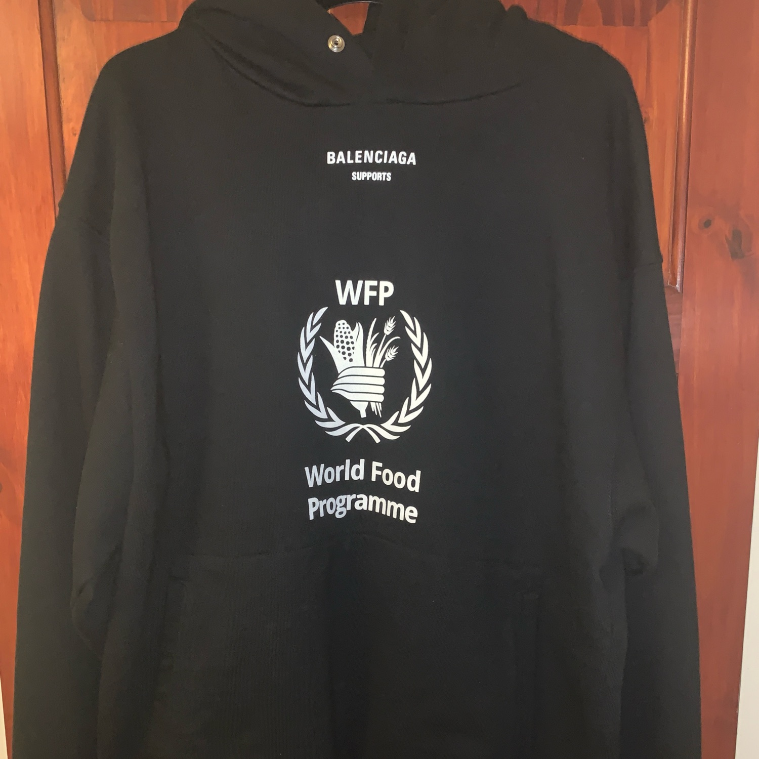 Balenciaga World Food Programme Hoodie Mod Sale