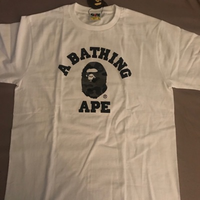 Bape Reflector Abc College Tee White/Grey