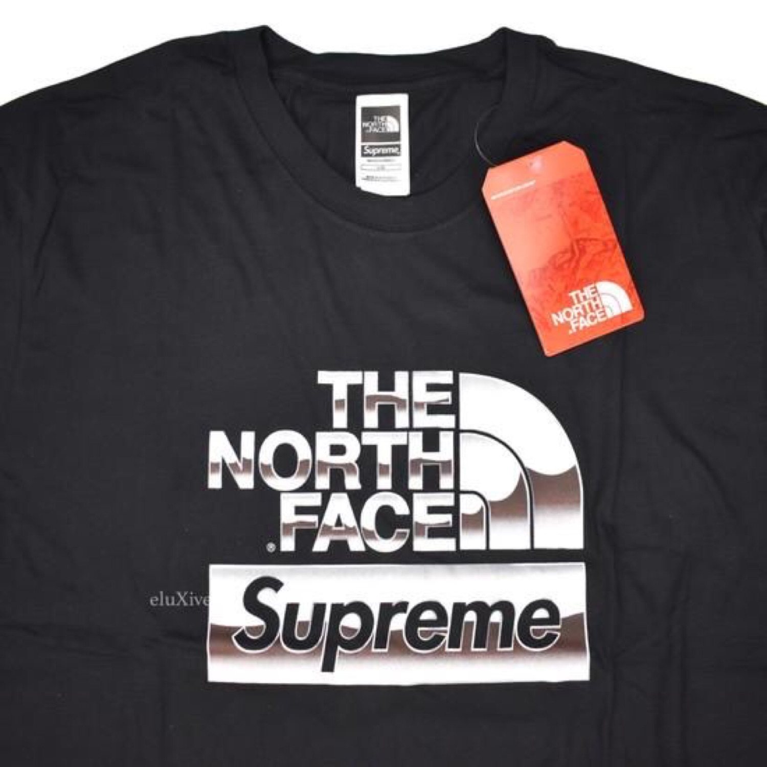 1df6781b5 Supreme X Tnf Metallic Box Logo T-Shirt Black Ds