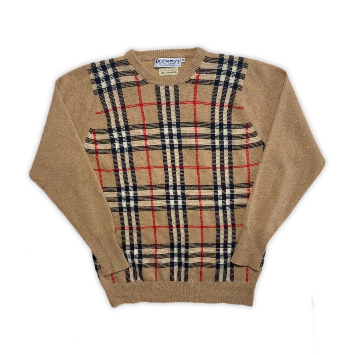 Vintage Burberry Nova Check Jumper Knit Sweater