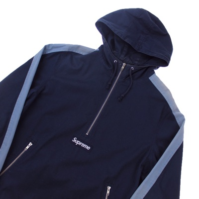 Supreme Navy Twill Pullover Jacket