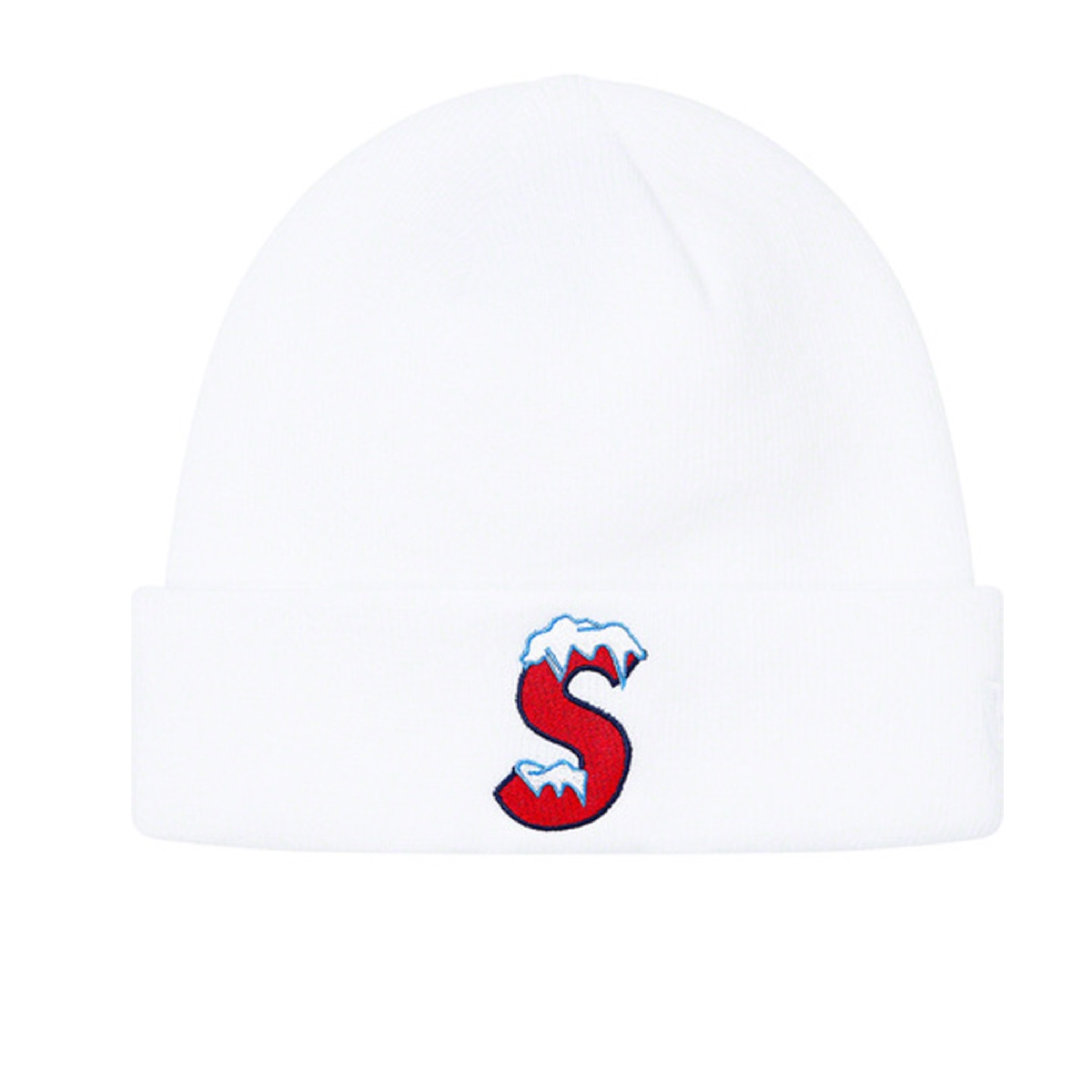 Supreme New Era S Logo Beanie White