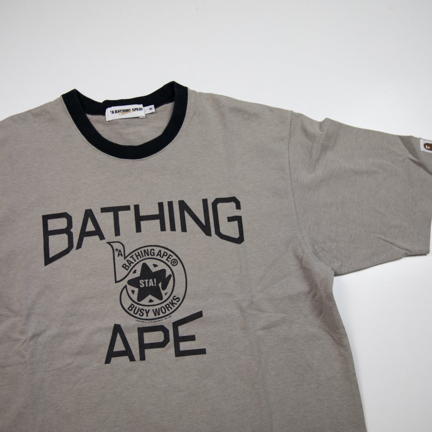 Bape Sta Busy Works Tee Grey (Used - M)