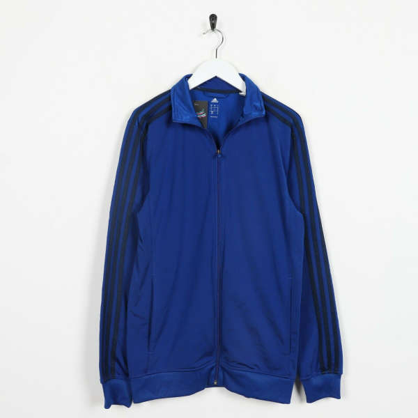 Vintage ADIDAS Tracksuit Top Jacket Blue | Small S