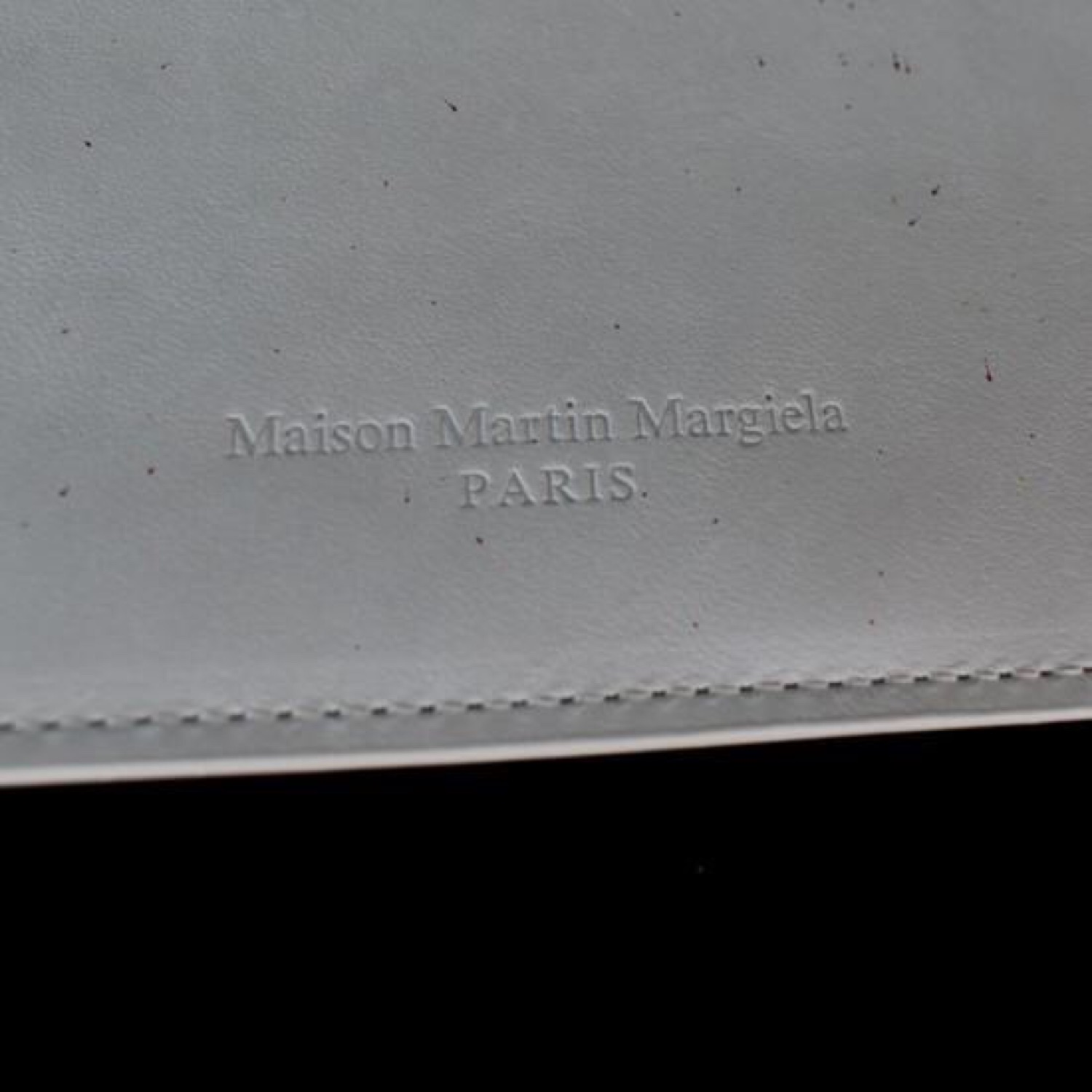 Maison Margiela Paint Splatter Leather Document