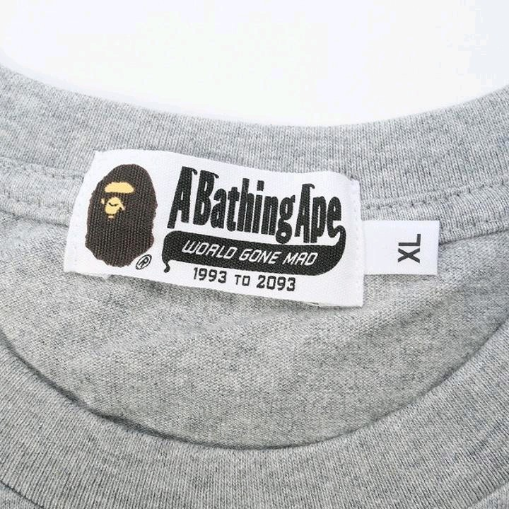 Bape Long Sleeve Ash Cotton Camouflage Ape Print