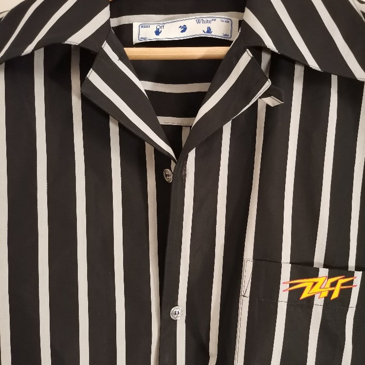 OFF-WHITE STRIPED HOLIDAY SHIRT