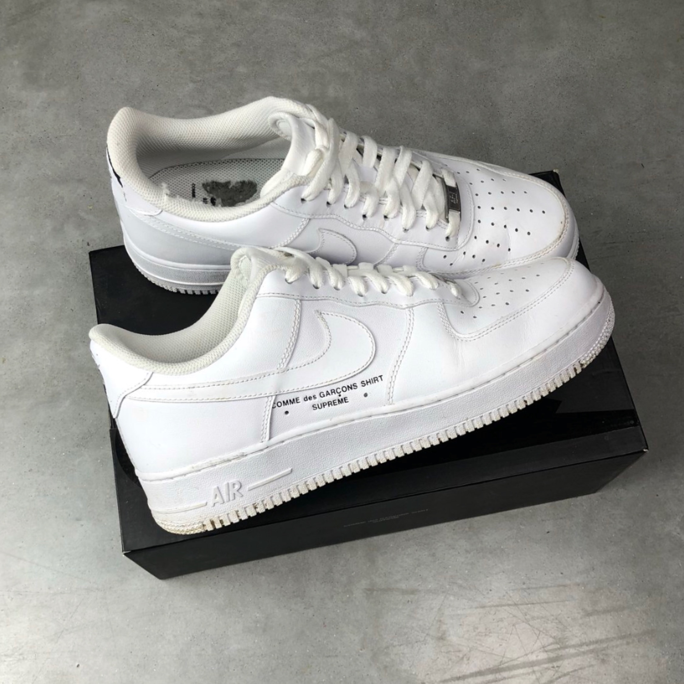 best service 281e1 21e1a Supreme X Cdg X Nike Af1 Collab Factory Flawed Uk9