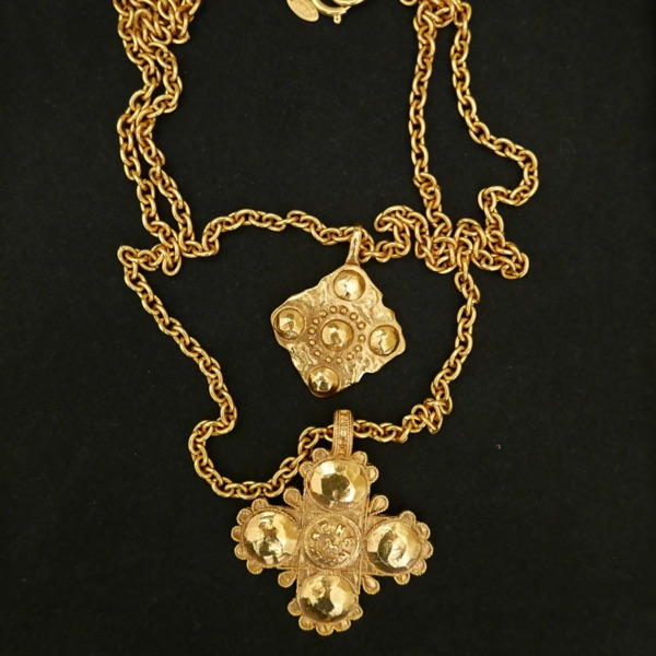 Authentic Chanel Gold Plated Charm Necklace