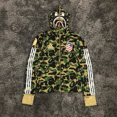 Adidas X Bape Super Bowl Shark Camp Hoodie