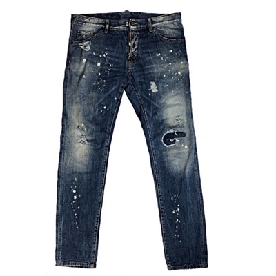 Dsquared2 Denim Distressed Jeans With Pair