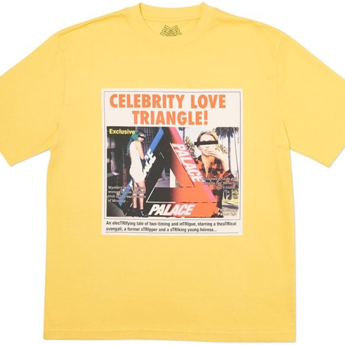 Palace Love Triangle T-Shirt Yellow