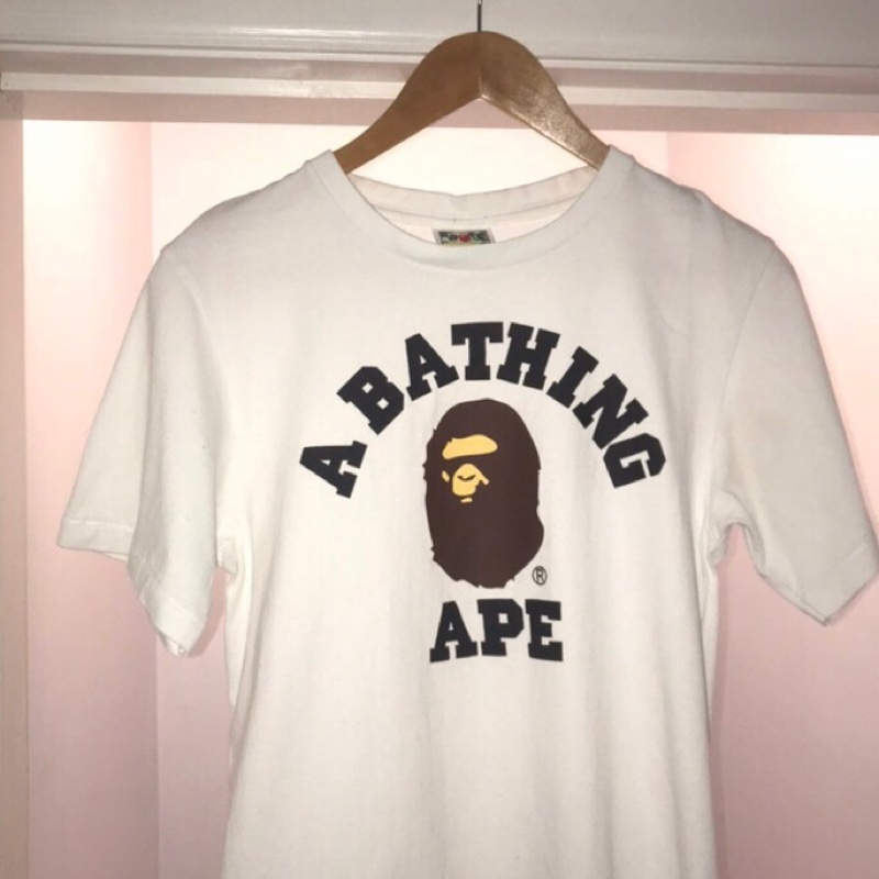 BAPE Pigment A Bathing Ape Patch Tee White