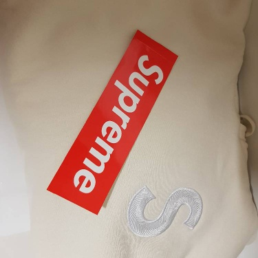 Supreme S Logo Hooded Sweatshirt | Natural | M