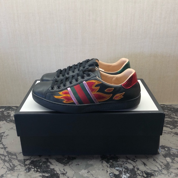 Gucci Ace Flame Black