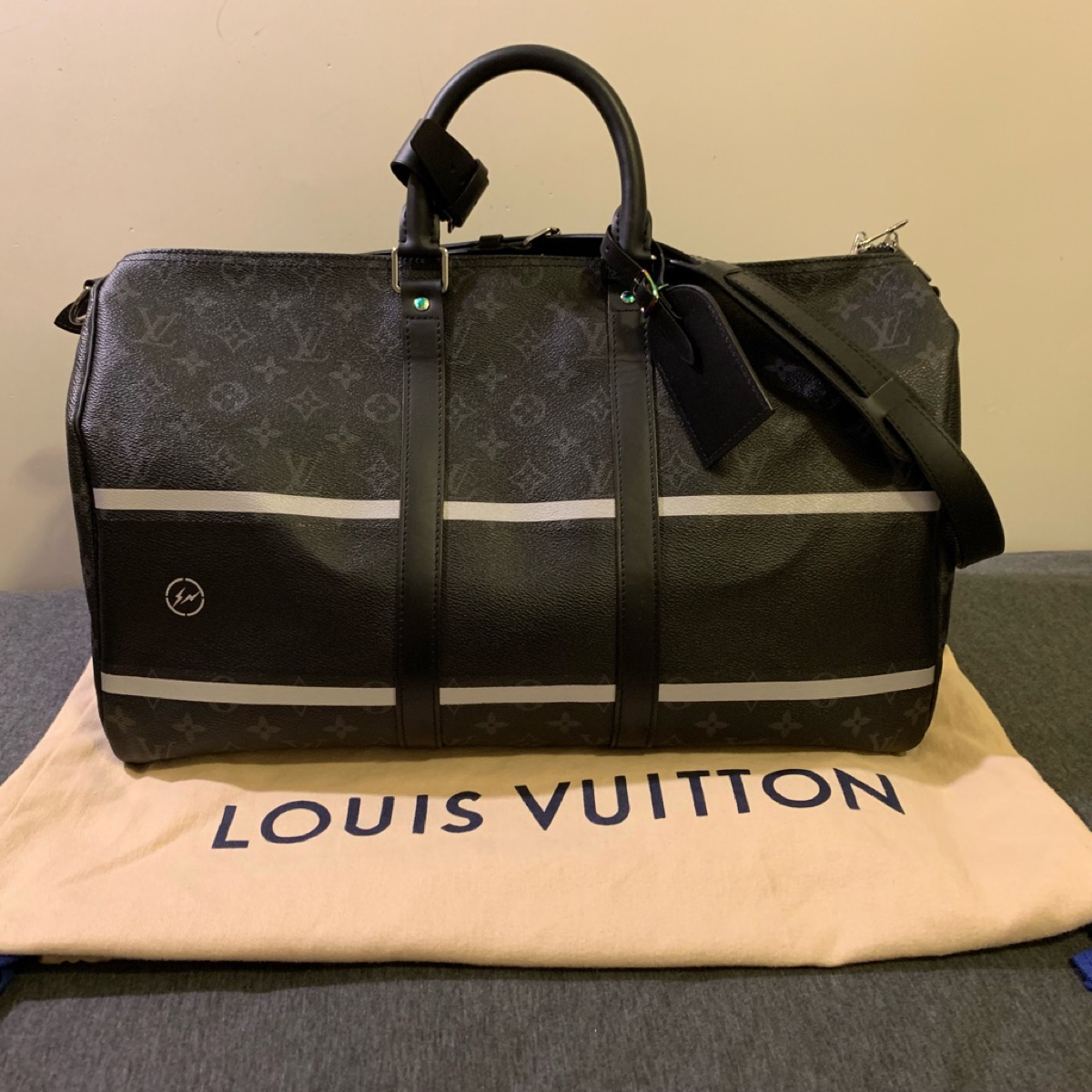 LV x Fragment Keepall 45 Bandouliere
