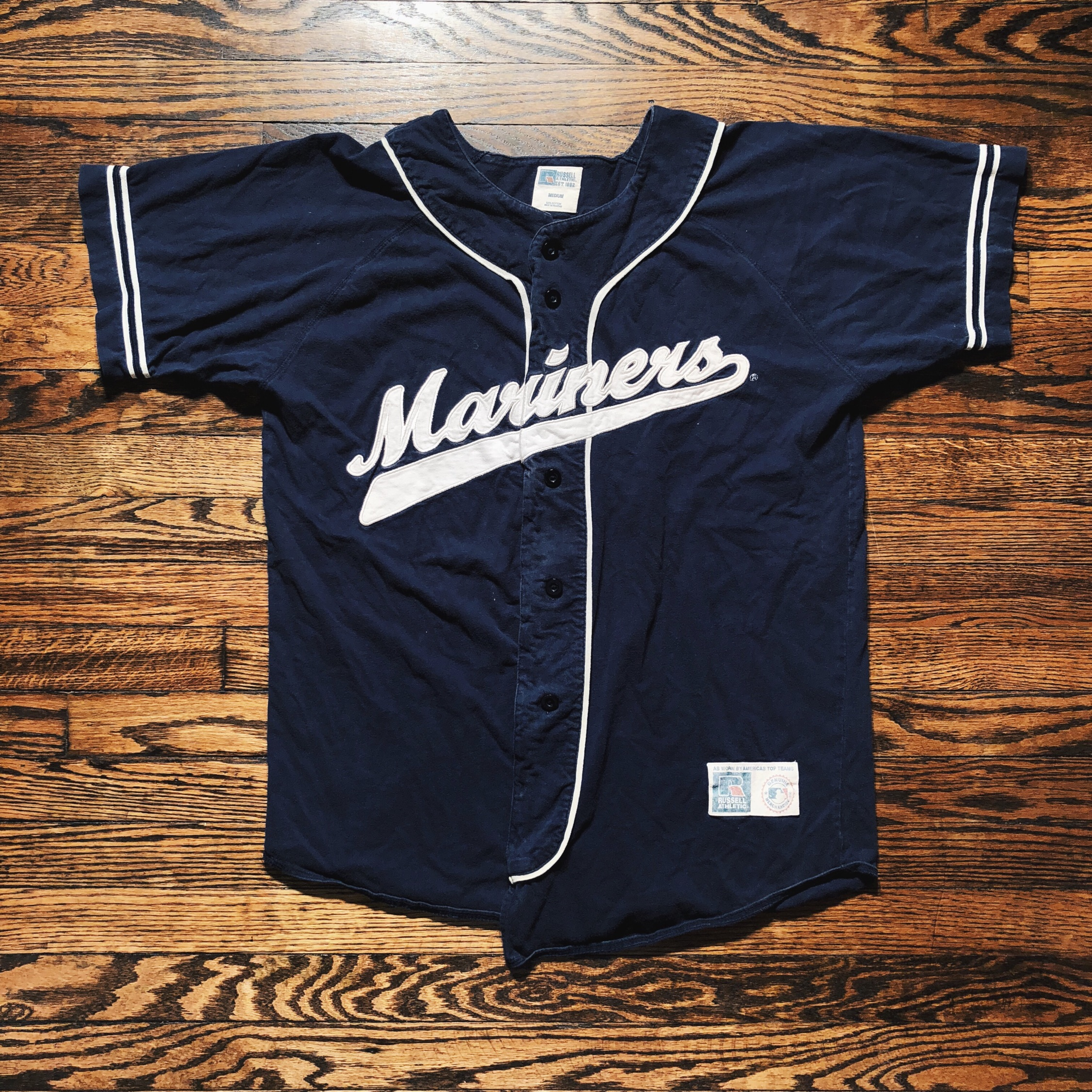 online store f034e d9b28 Vintage Russell Seattle Mariners Baseball Jersey