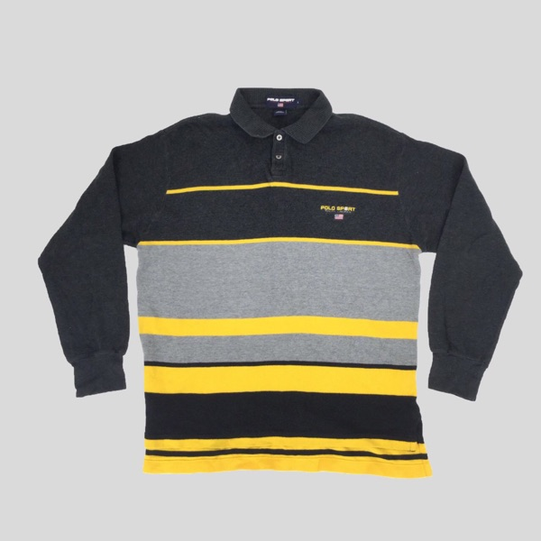 Polo Sport Warm Black & Yellow Polo Top