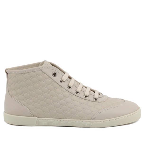 Gucci Guccissima Leather High Top Sneakers