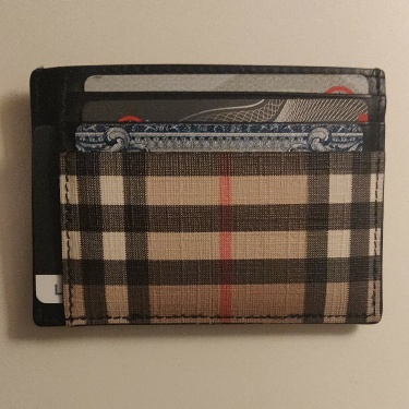 Burberry Money Clip wallet.