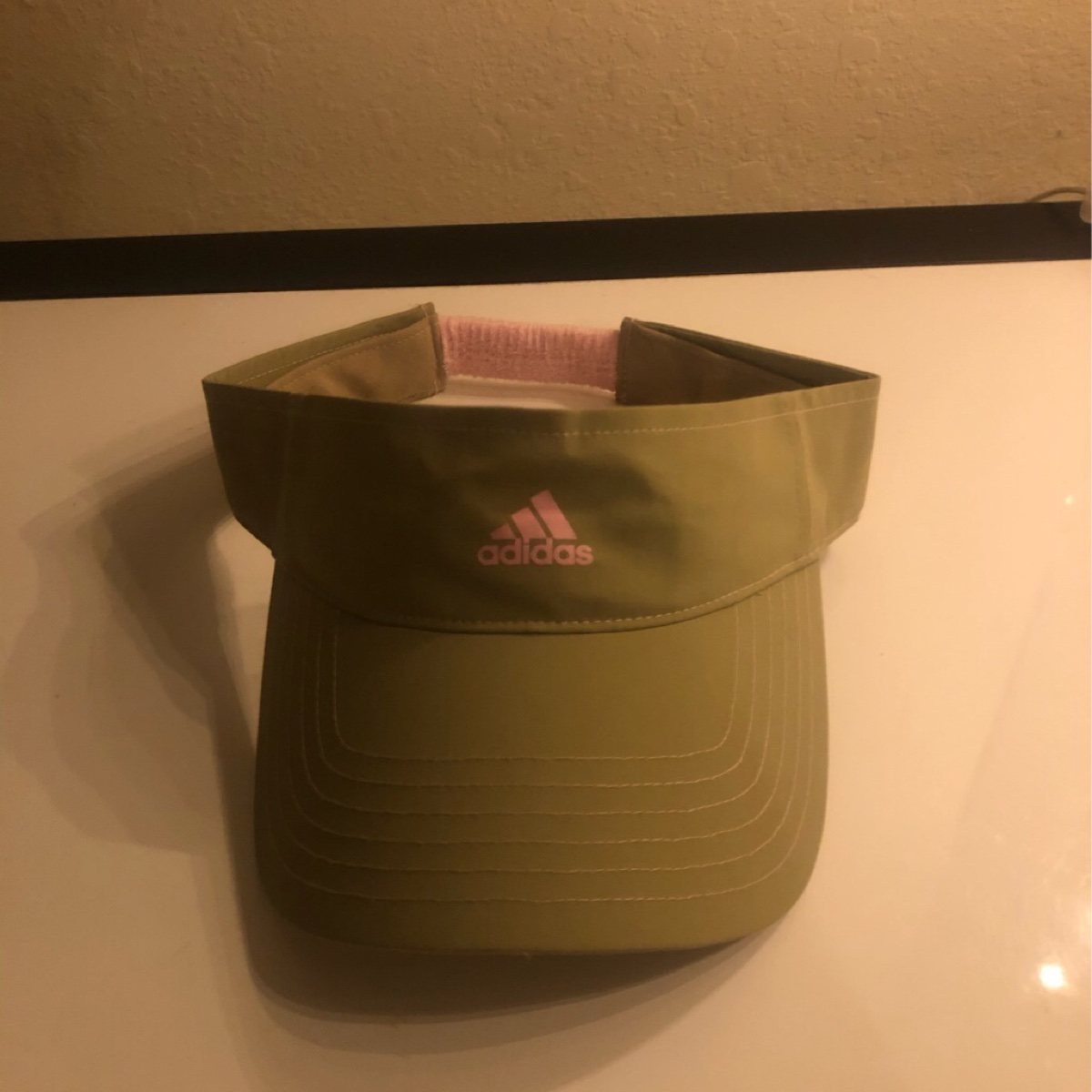 Adidas Visor Green Flamingo OS