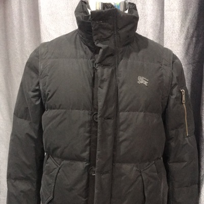 Burberry Bomber Jacket Black Label With Black Logo