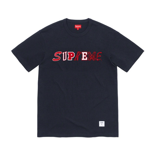 Supreme Collage Logo S/S Top Navy