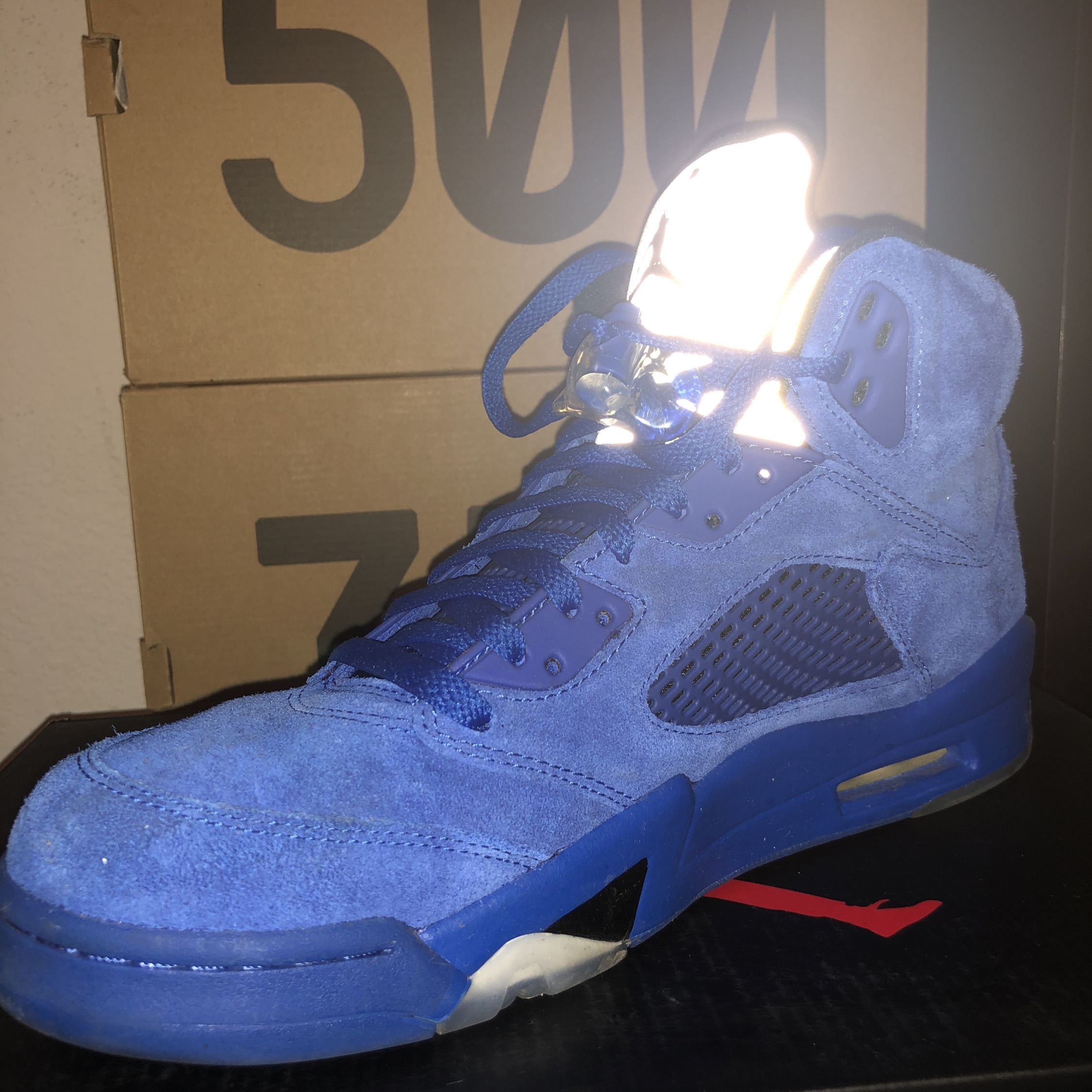 hot sale online 401e1 589e5 Air Jordan 5 Blue Suede