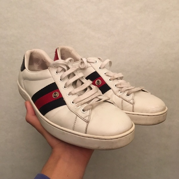 Gucci Ace Shoes Distressed Gucci Size 8.5