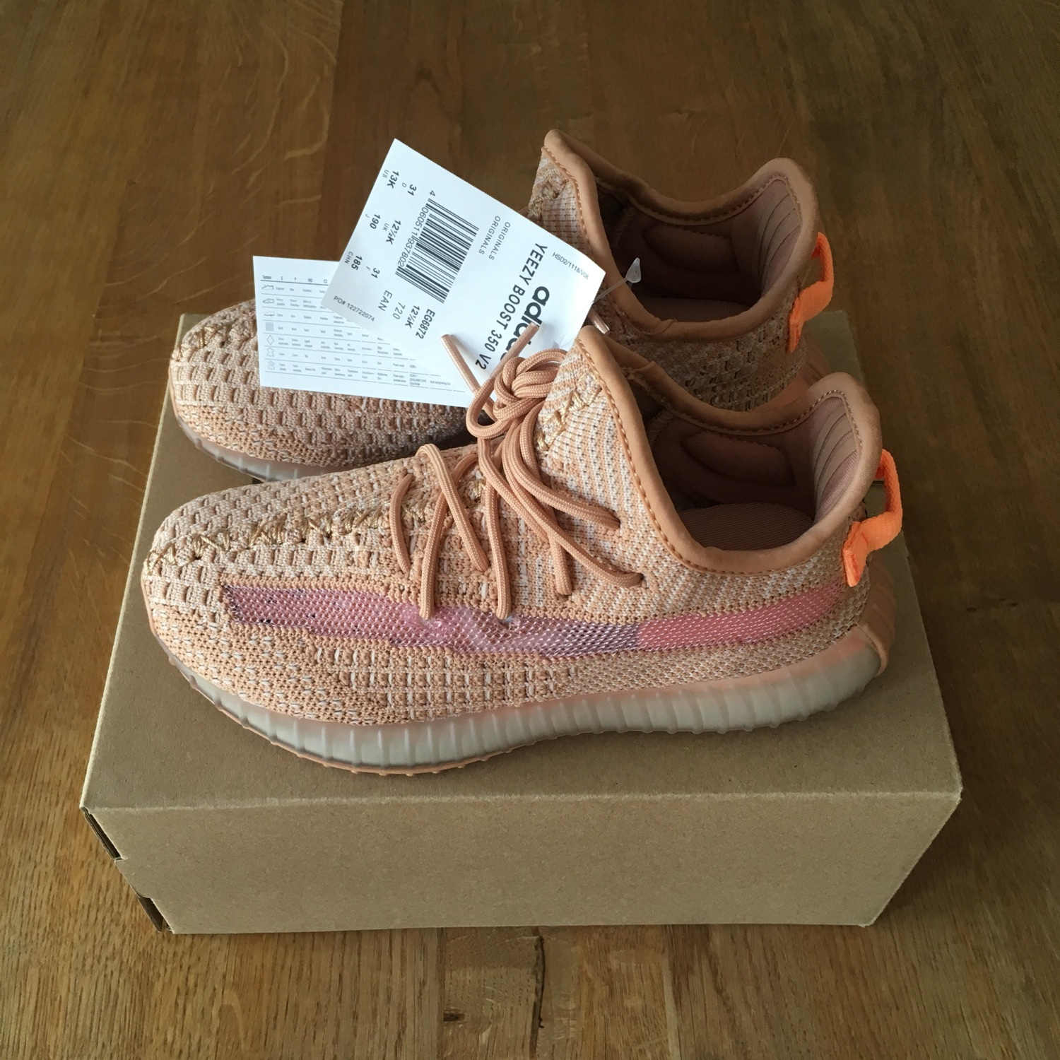 promo code d3289 99618 Adidas Infant Yeezy Boost 350 V2 Clay Kids Size 31