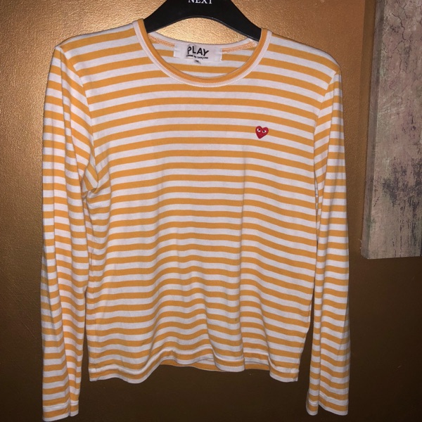 Comme Des Garcon Cdg Striped Yellow Long Sleeve