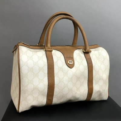 Gucci Vintage Gg Plus Boston Bag Monogram Logo