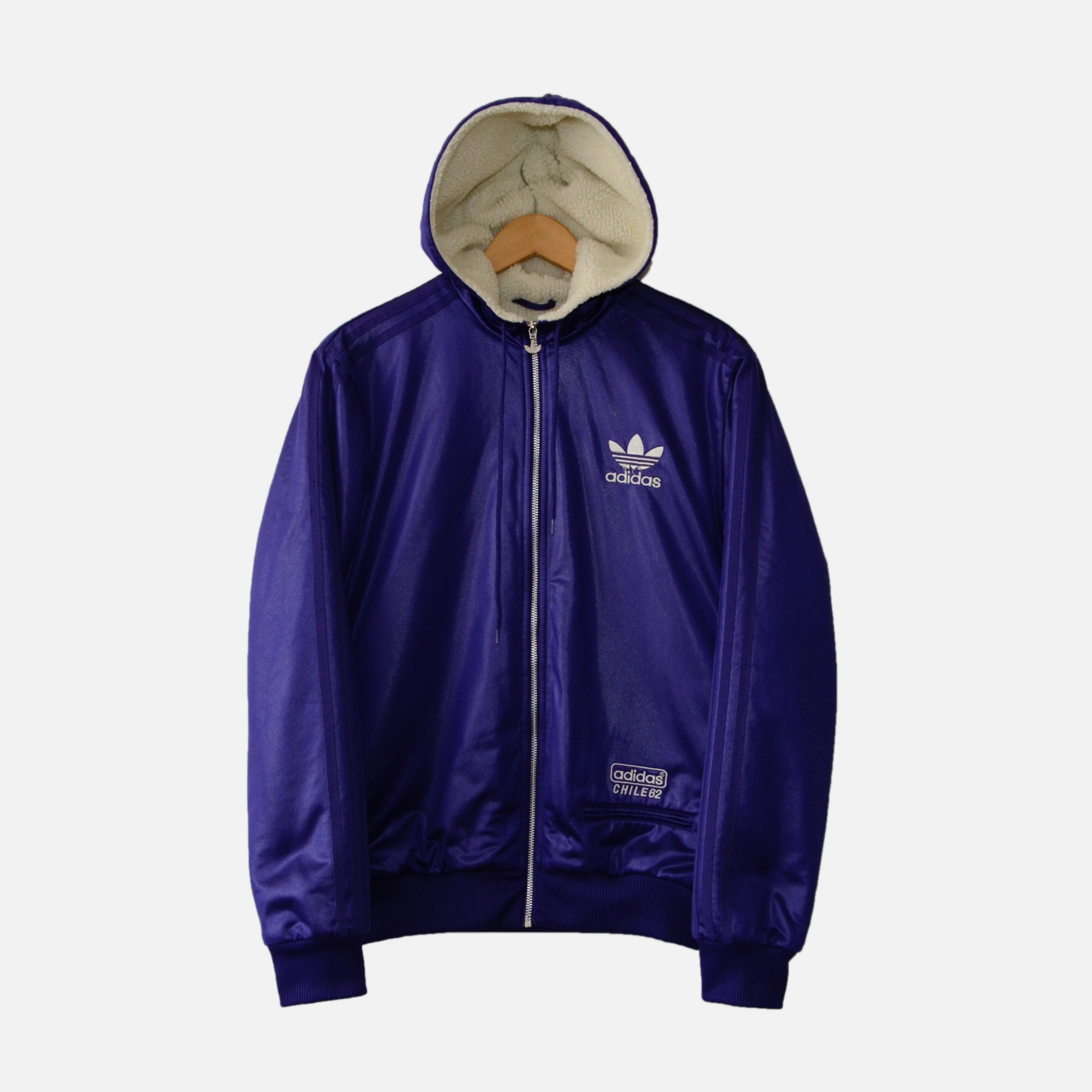 adidas fleece bomber jacket