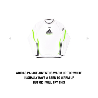 Juventus X Adidas X Palace Warm Up Top - White M