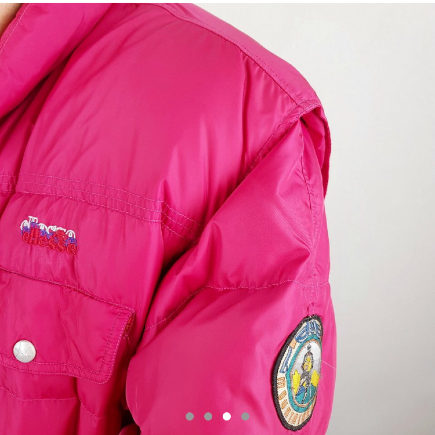 d64cb9a1 Vintage Ellesse Thick Puffer Jacket Pink