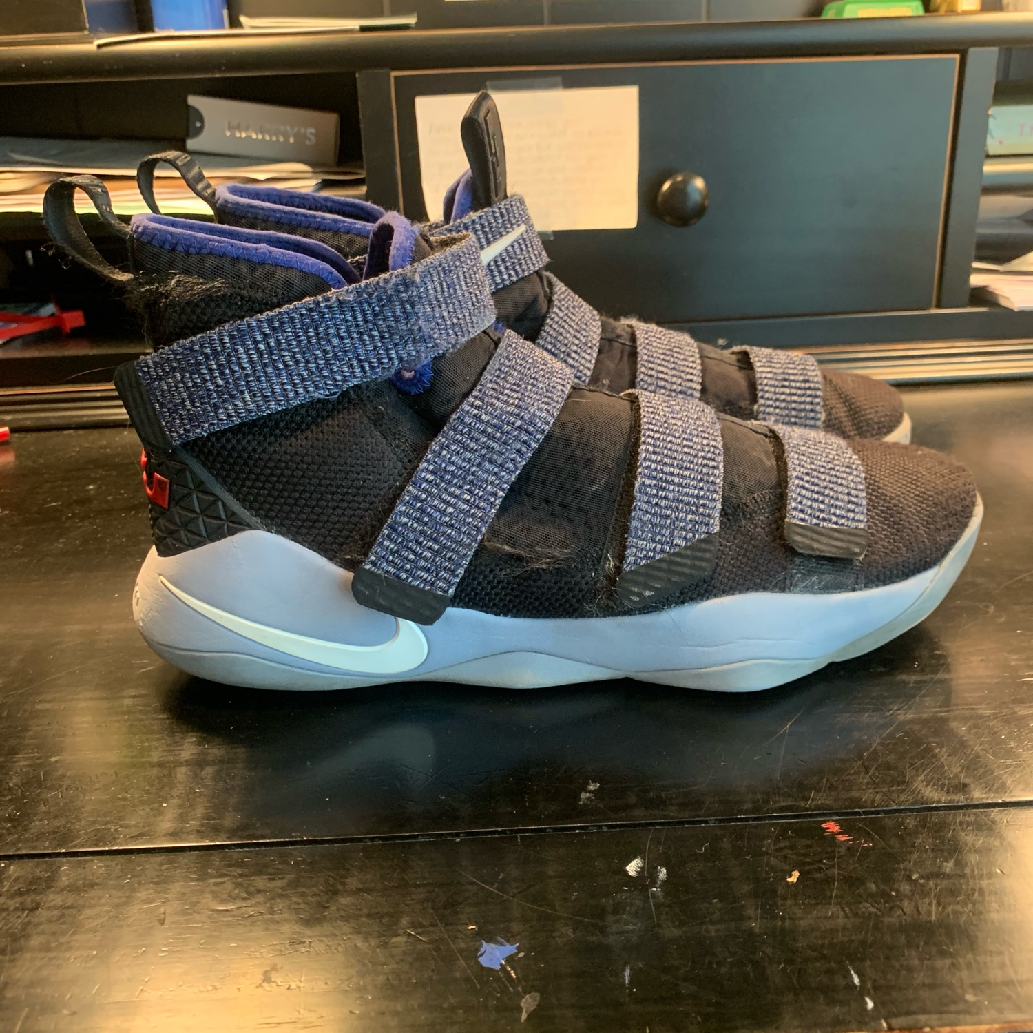 "new product 21be5 65810 Nike Lebron Soldier 11 ""Glacier Grey"" Sz 10"
