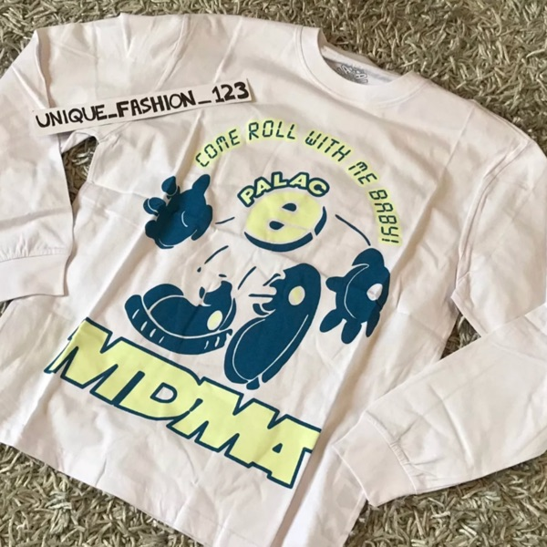 Palace Mdma Longsleeve Glow White T Shirt Xl New