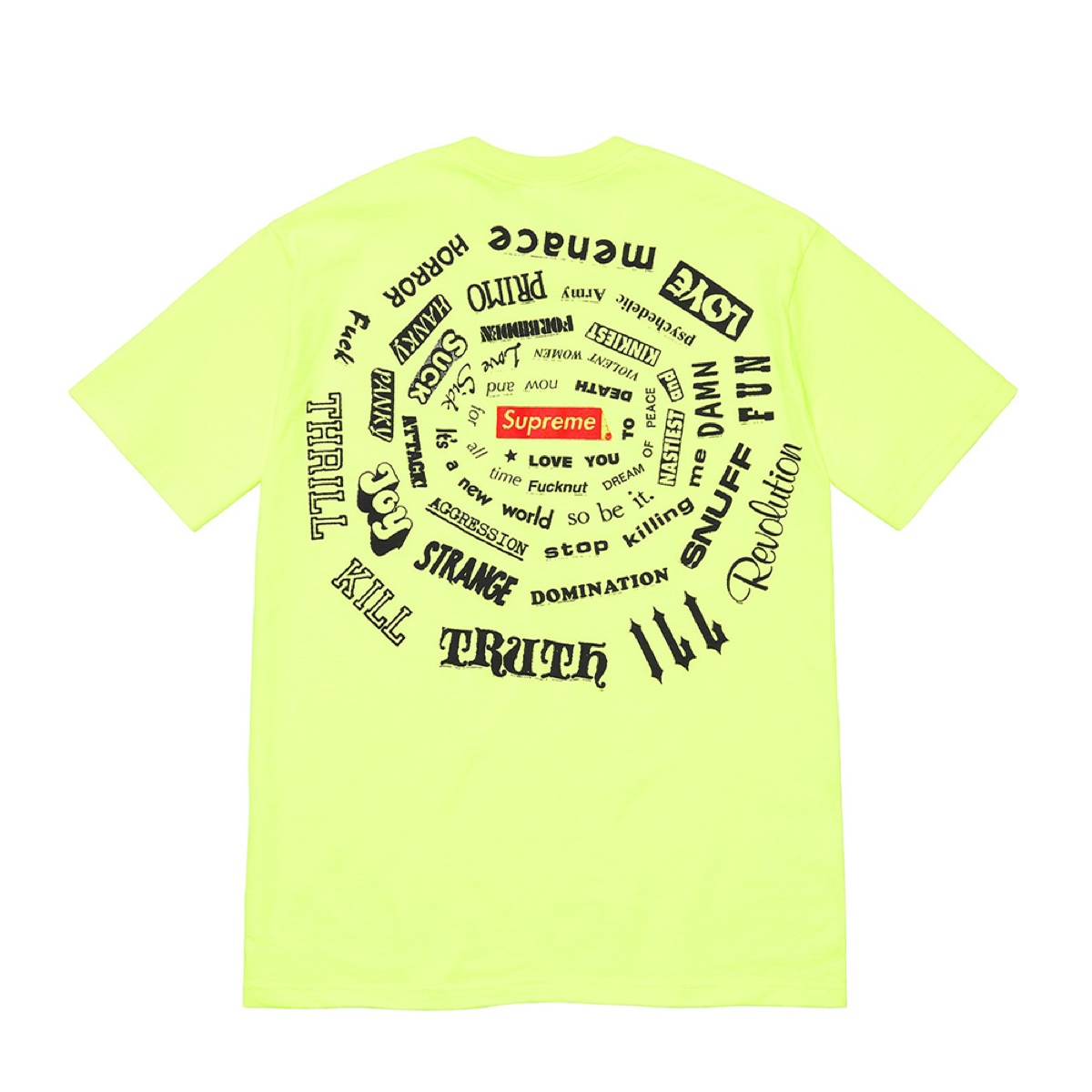 Supreme Spiral Tee Bright Yellow