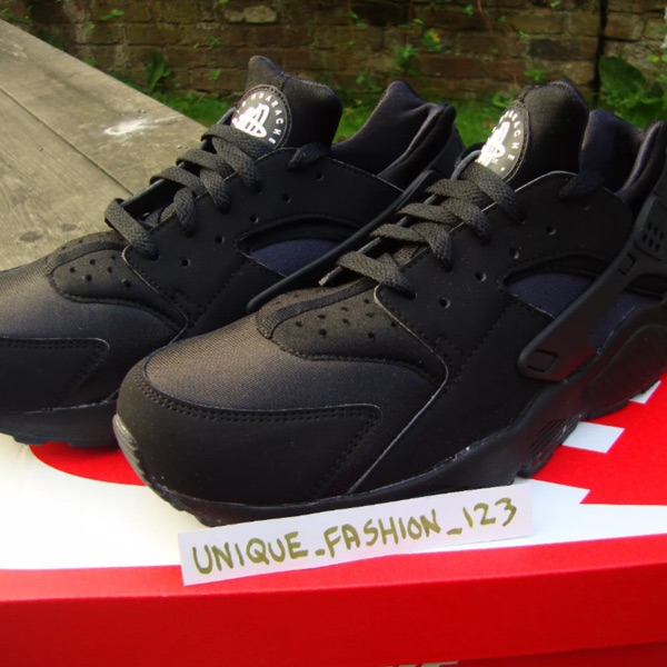 Nike Air Huarache Triple Black New Us 12