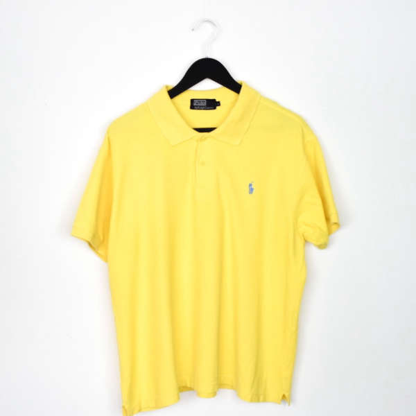 Vintage Ralph Lauren polo shirt tee blouse top in yellow