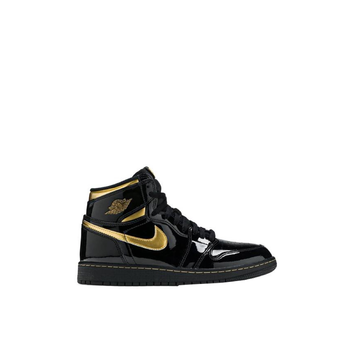 Jordan 1 Retro High OG Black Metallic Gold (GS)