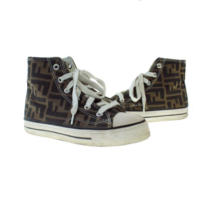 Authentic Fendi High Top Sneakers