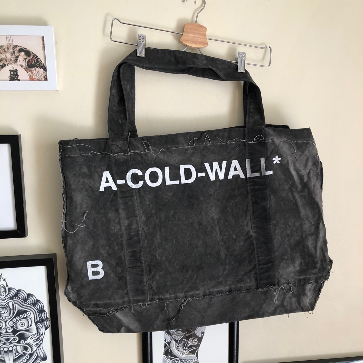 A Cold Wall Acw* Inside Out Raw Cut Tote Bag