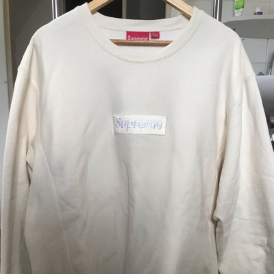 Supreme Natural Box Logo Crewneck