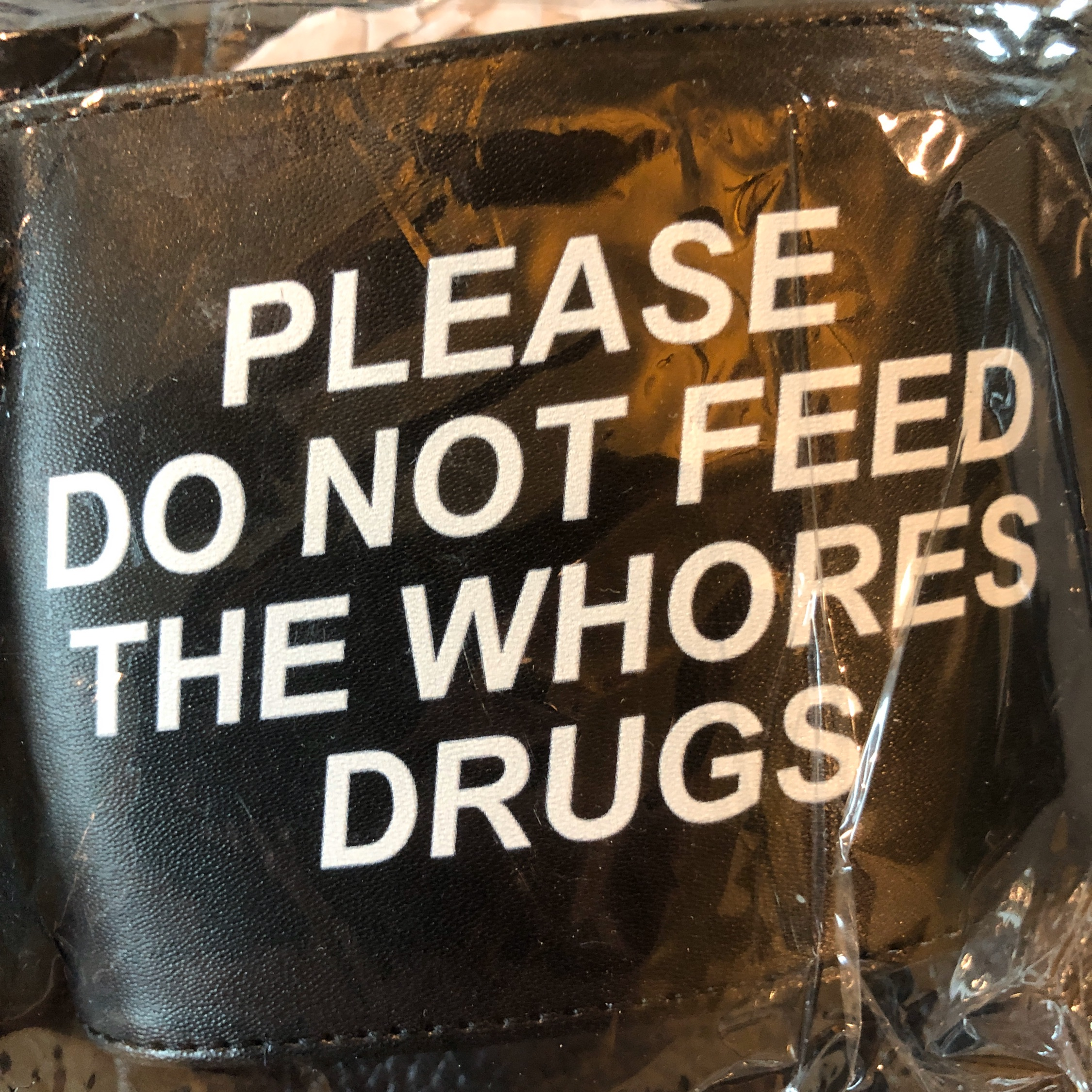 "Alf ""Please Do Not Feed The Whores Drugs"" Sandals"