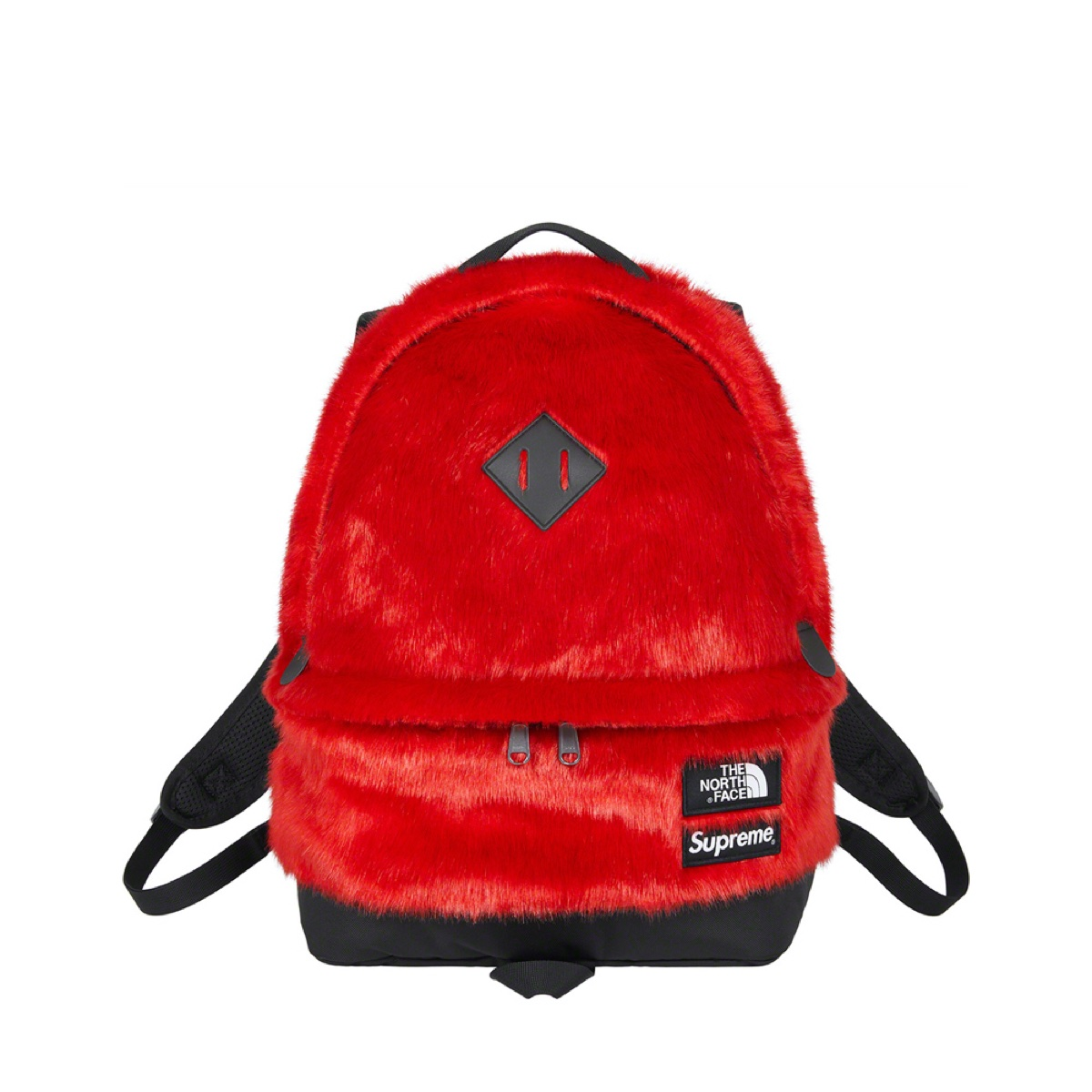 Supreme The North Face Faux Fur Backpack Red